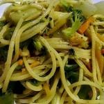 Spaghetti aux Légumes Grillés et Tomates Fraîches