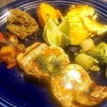 La Daurade Grillée a l'Huile d'Olive et Citron Vert